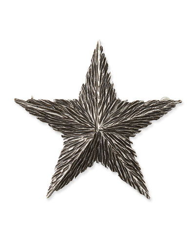 Textured Star Pin