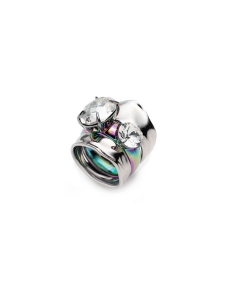 Alexis Bittar  LIQUID CRYSTAL STACKED RINGS, SET OF 2