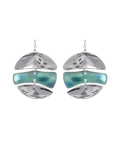 Liquid Rhodium Mobile Earrings