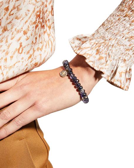 Sydney Evan 14k Small Starburst Diamond & Iolite Bracelet