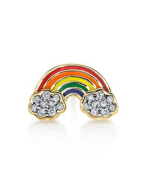 da04f62fd Sydney Evan 14k Rainbow Enamel Single Stud Earring w/ Diamonds