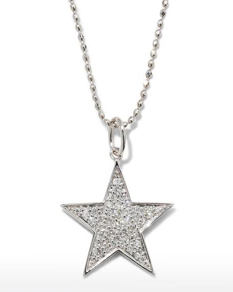 Sydney Evan  14K WHITE GOLD MEDIUM DIAMOND STAR NECKLACE