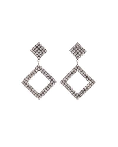 Beta Crystal Square-Drop Earrings