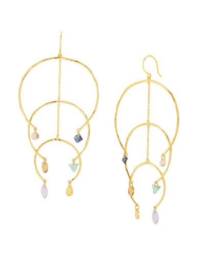 Luca Shimmer Arc Mobile Earrings