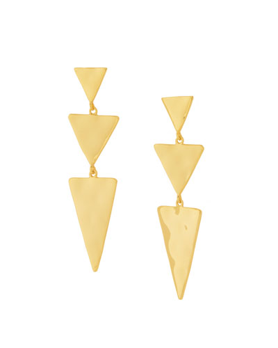 Luca Tiered Triangle Earrings