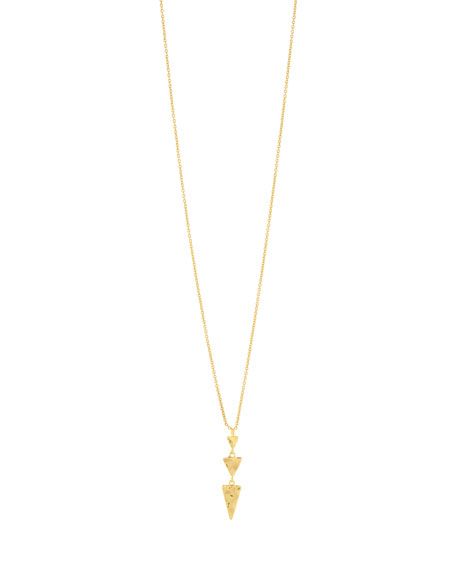 Gorjana Ties LUCA TIERED TRIANGLE NECKLACE