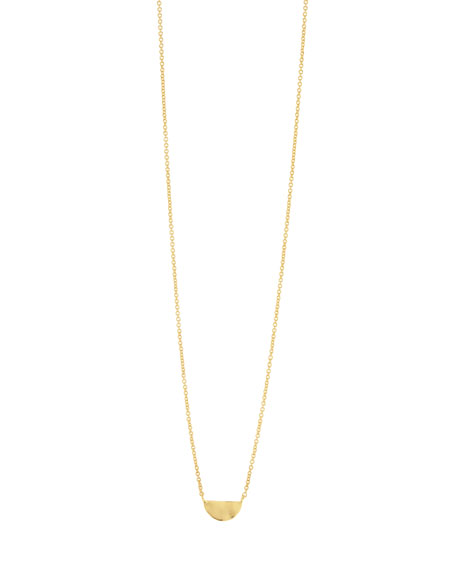 Gorjana Accessories LUCA SEMICIRCLE CHARM NECKLACE