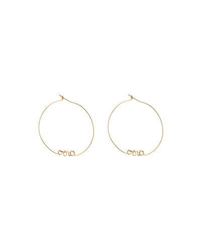 Personalized Gold-Filled Hoop Earrings  1-5 Letters