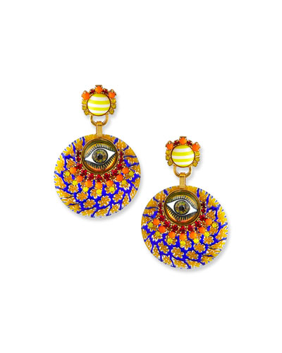 Pierce Crystal Eye Earrings