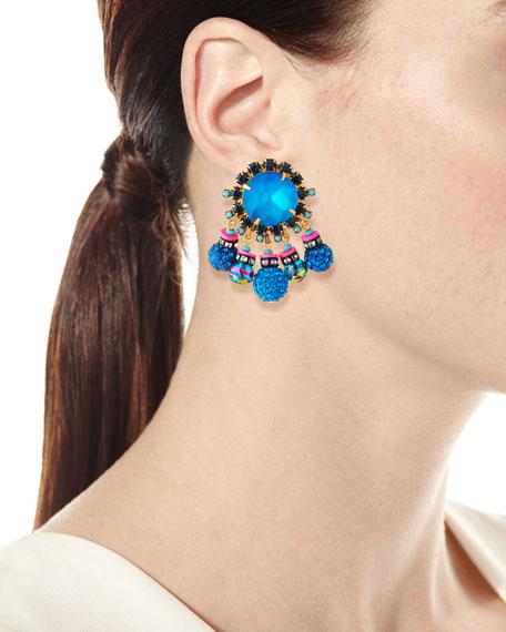 Elizabeth Cole Addison Crystal Dangle Earrings