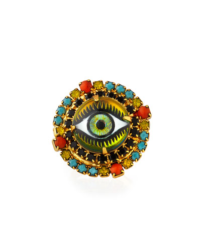 Lizzy Crystal Eye Ring