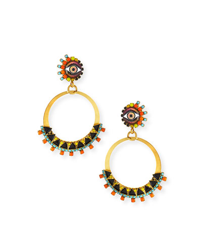 Brandyce Hoop Drop Earrings