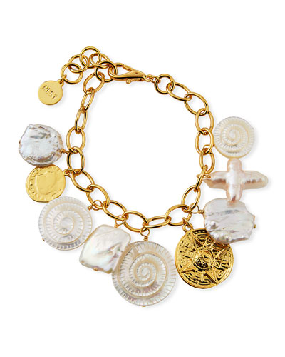 Coin Shell Charm Anklet
