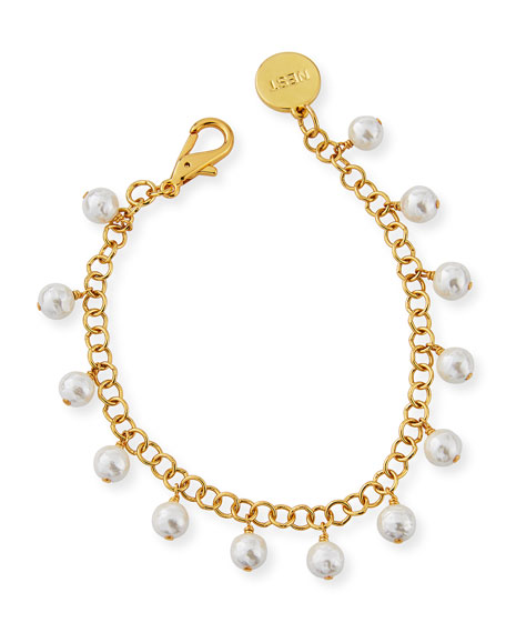 NEST Jewelry Pearly Charm Anklet