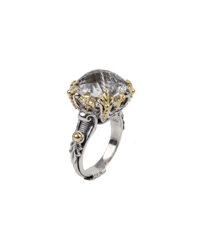 Pythia Gold & Silver Ring with Rock Crystal