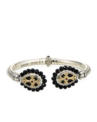 Hestia Black Onyx Hinged Bracelet