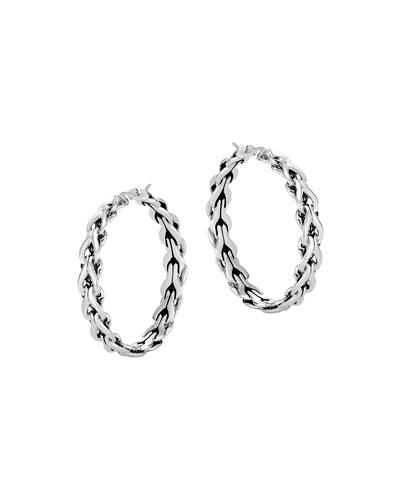 Asli Classic Chain Medium Hoop Earrings