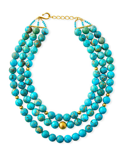 3-Strand Jasper Necklace
