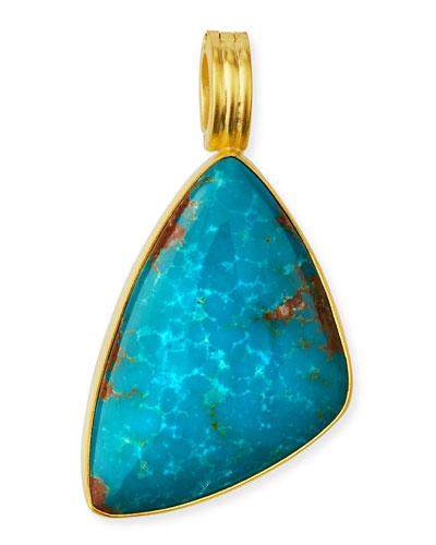 Freeform Turquoise Pendant