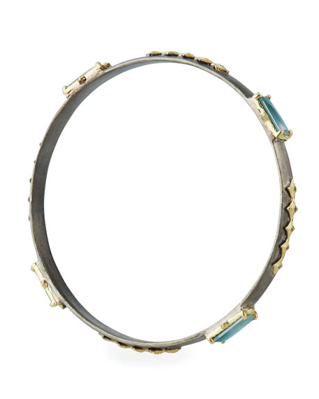 Armenta Old World Triplet & Diamond Crivelli Bangle w/ 18k Gold