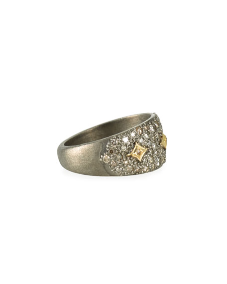 Armenta Old World Diamond Pave Ring w/ Crivelli, Size 6.5