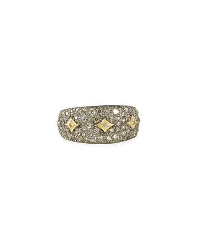 Old World Diamond Pave Ring w/ Crivelli  Size 6.5