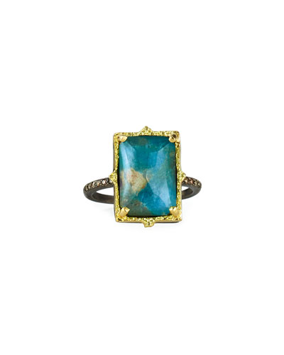 Old World Rectangular Triplet Ring  Size 6.5