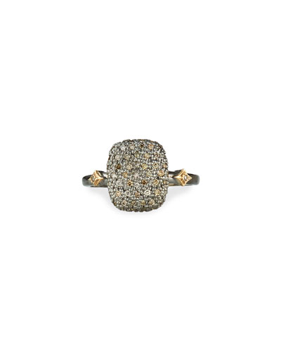 Cuneto Diamond Pave Cushion Ring, Size 6.5