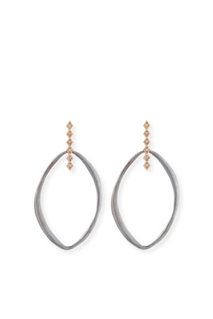 Armenta Pointed Oval & Crivelli Diamond Earrings