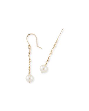 Mizuki 14k Gold Single-Pearl Drop Earrings