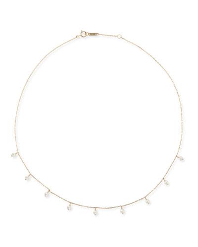 14k Gold Short Pearl Shaker Necklace