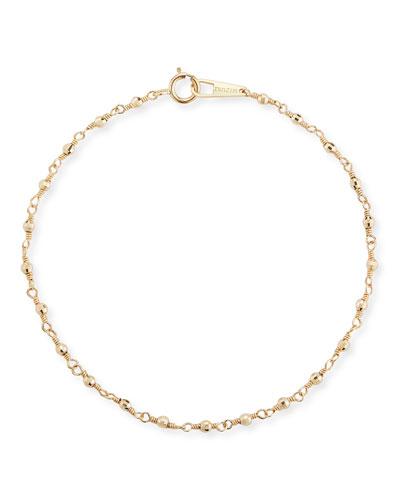 14k Gold Wrapped Bead Bracelet