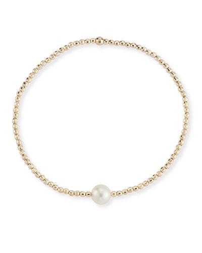 14k Gold Single-Pearl Bracelet