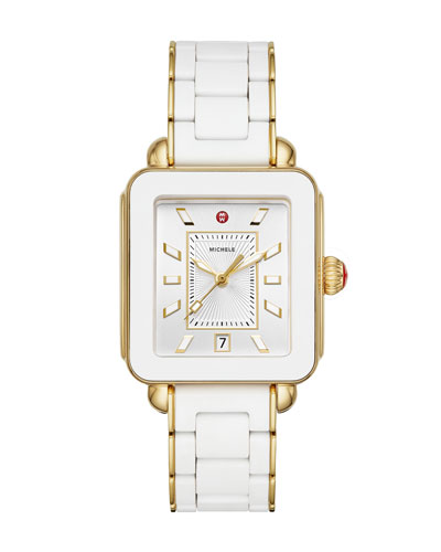 Deco Sport Bracelet Watch  Gold/White