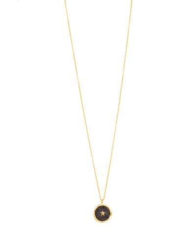 Enamel Star Coin Necklace