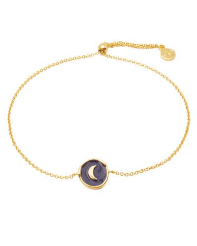 Enamel Moon Coin Bracelet