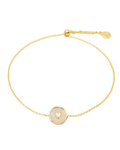 Enamel Heart Coin Bracelet