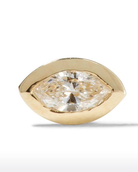 Sydney Evan Accessories 14K DIAMOND MARQUISE SINGLE STUD EARRING