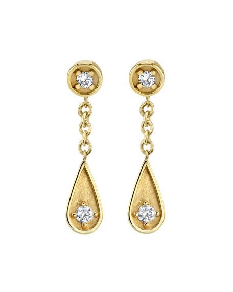 Sydney Evan Accessories 14K DIAMOND POST & TEARDROP EARRINGS