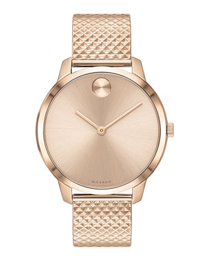 Movado 35mm Movado Bold Thin Watch w  Mesh Bracelet e02f9d39da