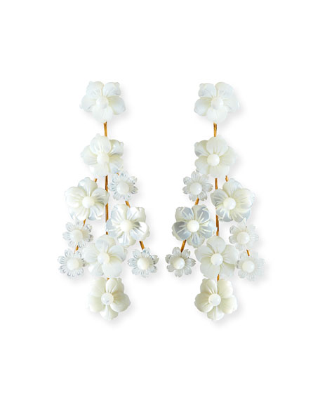 Jennifer Behr Jewelry FILIPPA MOTHER-OF-PEARL FLOWER EARRINGS
