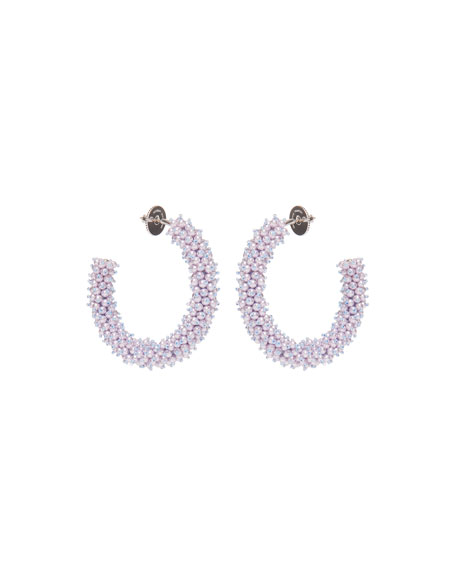 Mignonne Gavigan Accessories TAYLOR HOOP EARRINGS, WHITE
