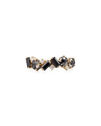 Bloom 14k Yellow Gold Amalfi Mix Ring  Black  Size 4-8.5