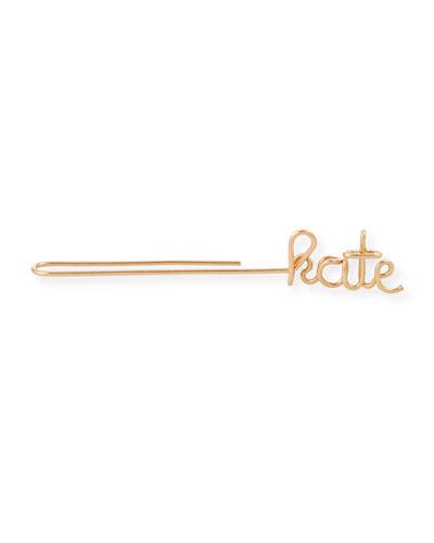 Personalized Single Wire Ear Cuff  5 Letters