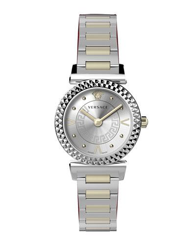 Mini Vanity Watch w/ 2-Tone Bracelet
