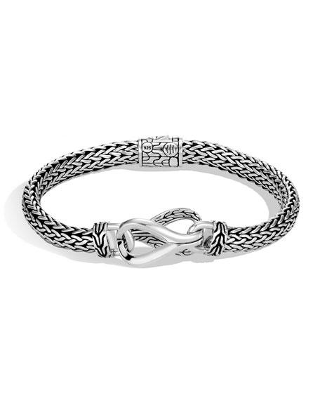 John Hardy Classic Chain Asli Link-Station Bracelet