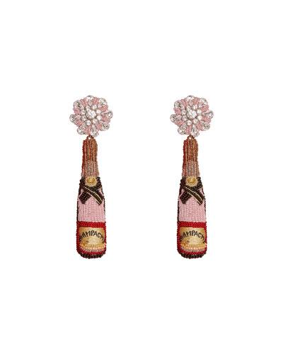 Rose Bottle Earrings