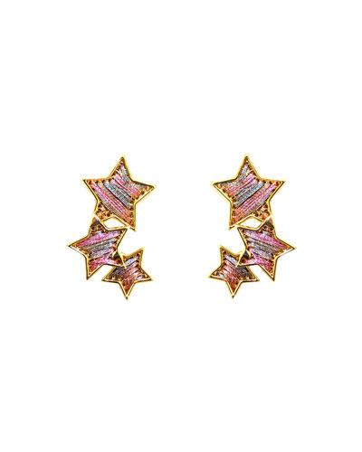 Threaded Star Earrings