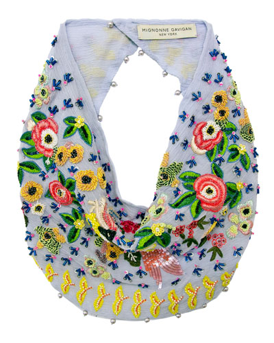 Jaipur Embroidered Silk Scarf Necklace