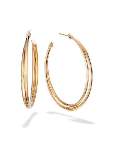 14k Gold Twist Hoop Earrings  45mm